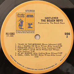 THE BEACH BOYS:SUNFLOWER(LABEL SIDE-B)