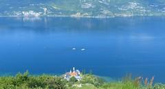 Lac du Bourget – Abbaye de Hautecombe depuis Mont du Chat (Savoie, Fr)
