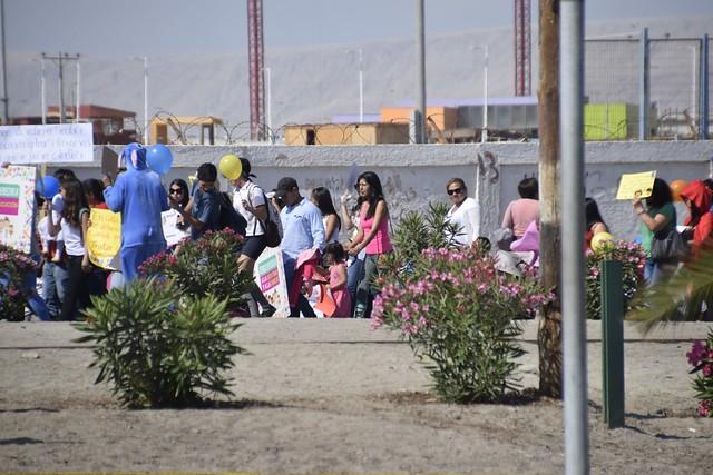 Con pasacalles municipalidad conmemora lps derechos del niño, junto a diversos programas sociales. Fotos Claudio Avendaño