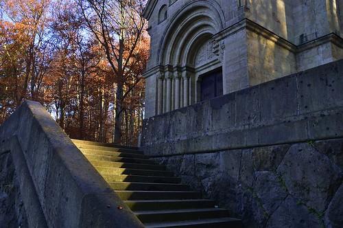 Treppe zur Votivkirche des Königs Ludwig II. aus Bayern