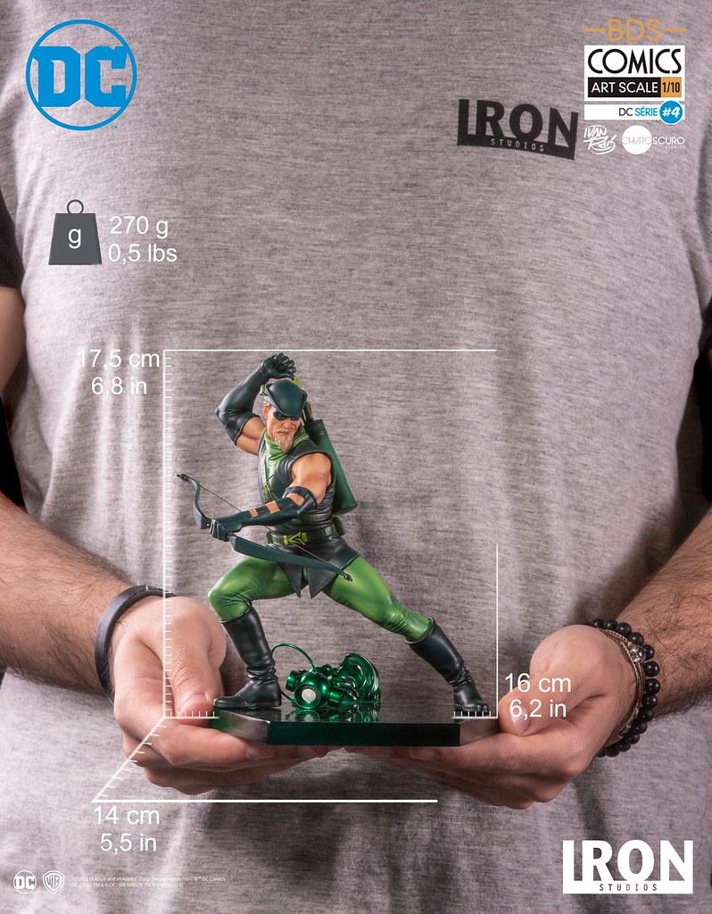 Iron Studios DC Comics【綠箭俠】Green Arrow 1/10 比例決鬥場景雕像作品