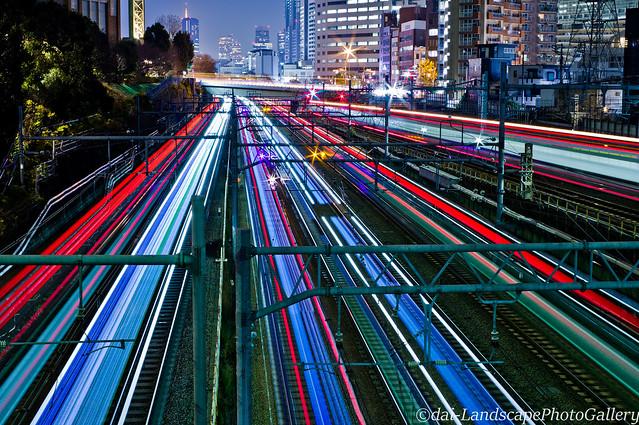 御殿山通り陸橋夜景, RICOH PENTAX KP, smc PENTAX-DA 35mm F2.4 AL