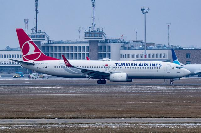TC-JVF Boeing 737-8F2 Turkish, Nikon D5300, Sigma 50-100mm F1.8 DC HSM | A + 2x