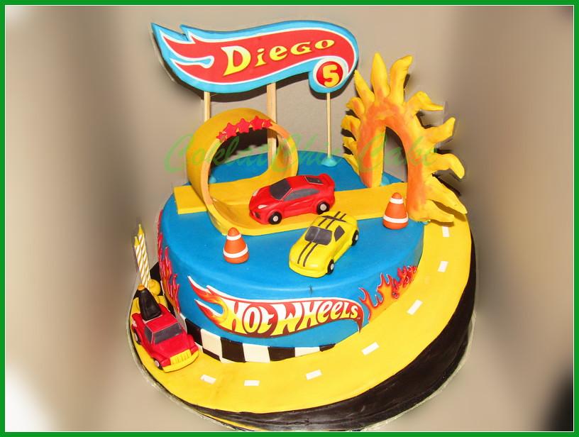 Cake HotWheels DIEGO 24 cm