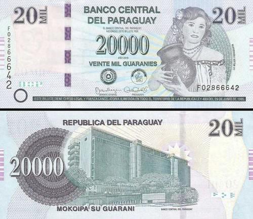 20 000 Guaranies Paraguaj 2015, P238a