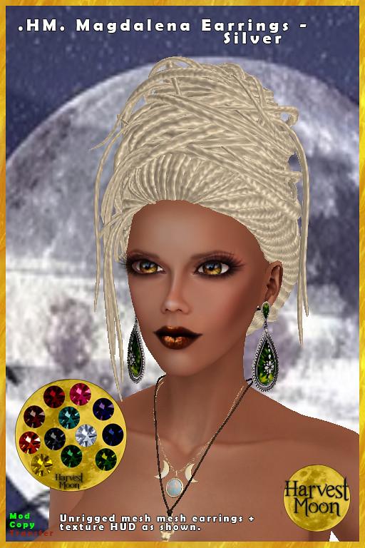 Harvest Moon – Magdalena Earrings – Silver