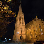 St Walburges Church at night