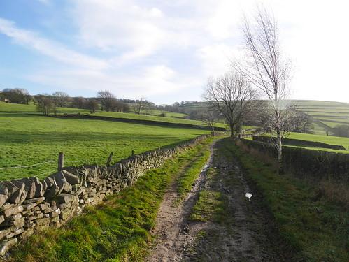 Oakenbank Lane - the Peak District Boundary