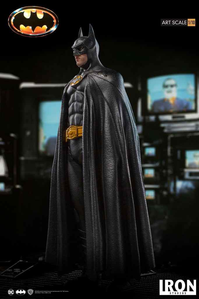 "「I'm Batman!""」Iron Studios《蝙蝠俠(1989)》蝙蝠俠 Batman 1/10 比例全身雕像作品"