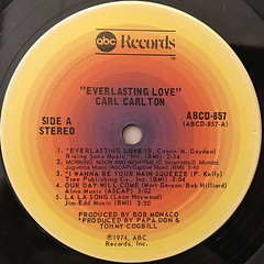 CARL CARLTON:EVERLASTING LOVE(LABEL SIDE-A)
