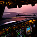 (Phone Wallpaper) Sunset 37,000 feet above Arcachon Bay by gc232