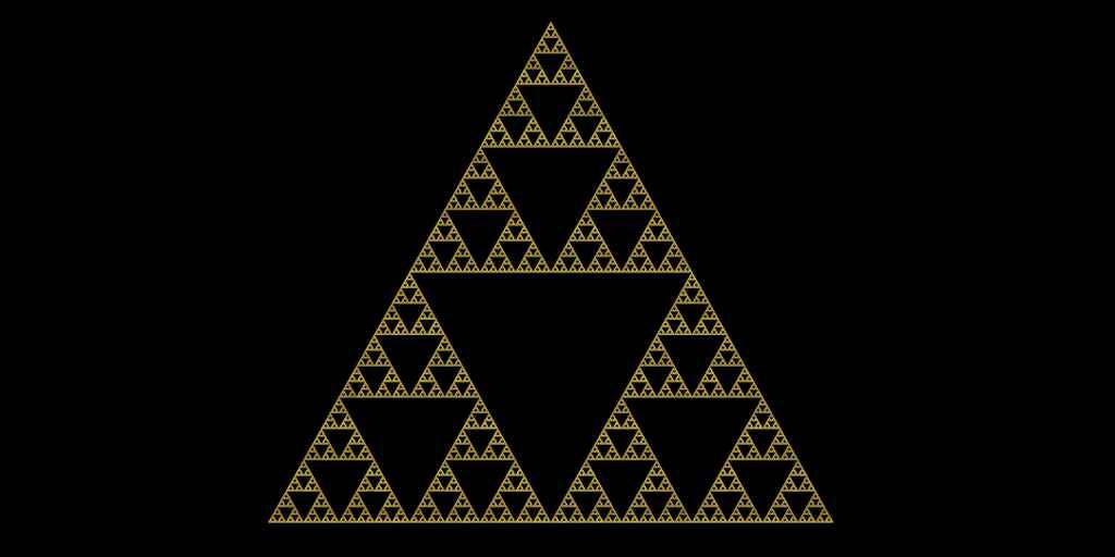 fractale-quantique-électrons-comportement-étrange-triangle-de-Sierpinski
