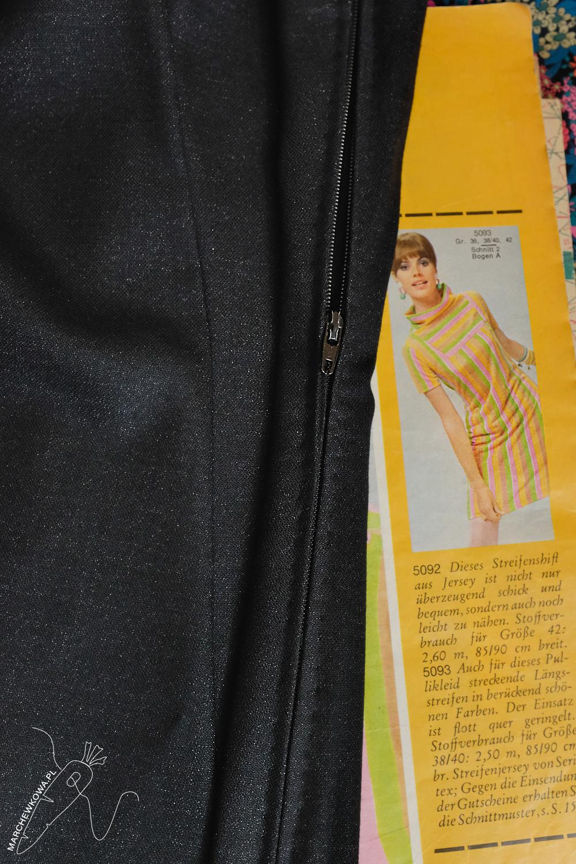 marchewkowa, blog, szycie, sewing, rękodzieło, handmade, moda, styl, vintage, retro, 1960s, Wrocław szyje, Burda Moden 9/1966, sukienka z golfem, turtleneck dress, LBD