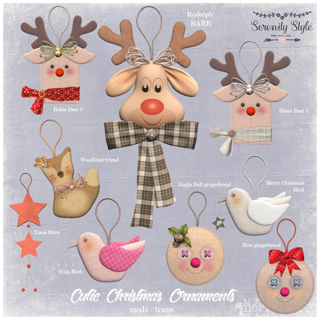 Serenity Style- Cutie Christmas Ornaments