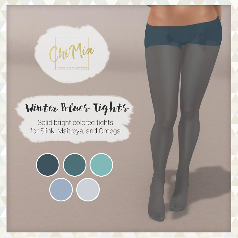 Winter Blues Tights for TLC December - TeleportHub.com Live!