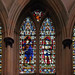 Six saints in glass - Rochester Cathedral, Rochester, Kent, England