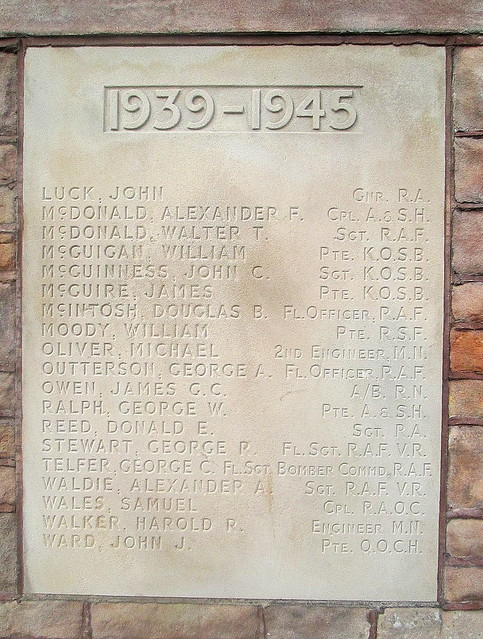 Jedburgh War Memorial Plaque 2
