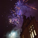 Fireworks above Hebden Bridge Town Hall at the Christmas lights switch on 2018