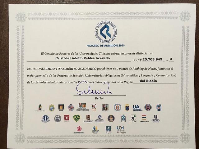 Premiación Puntaje Nacional