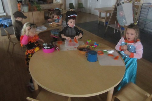 Halloween afternoon play dough