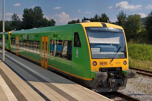 01a-Regenbahn VT 21 -Regen- am Bf Gotteszell