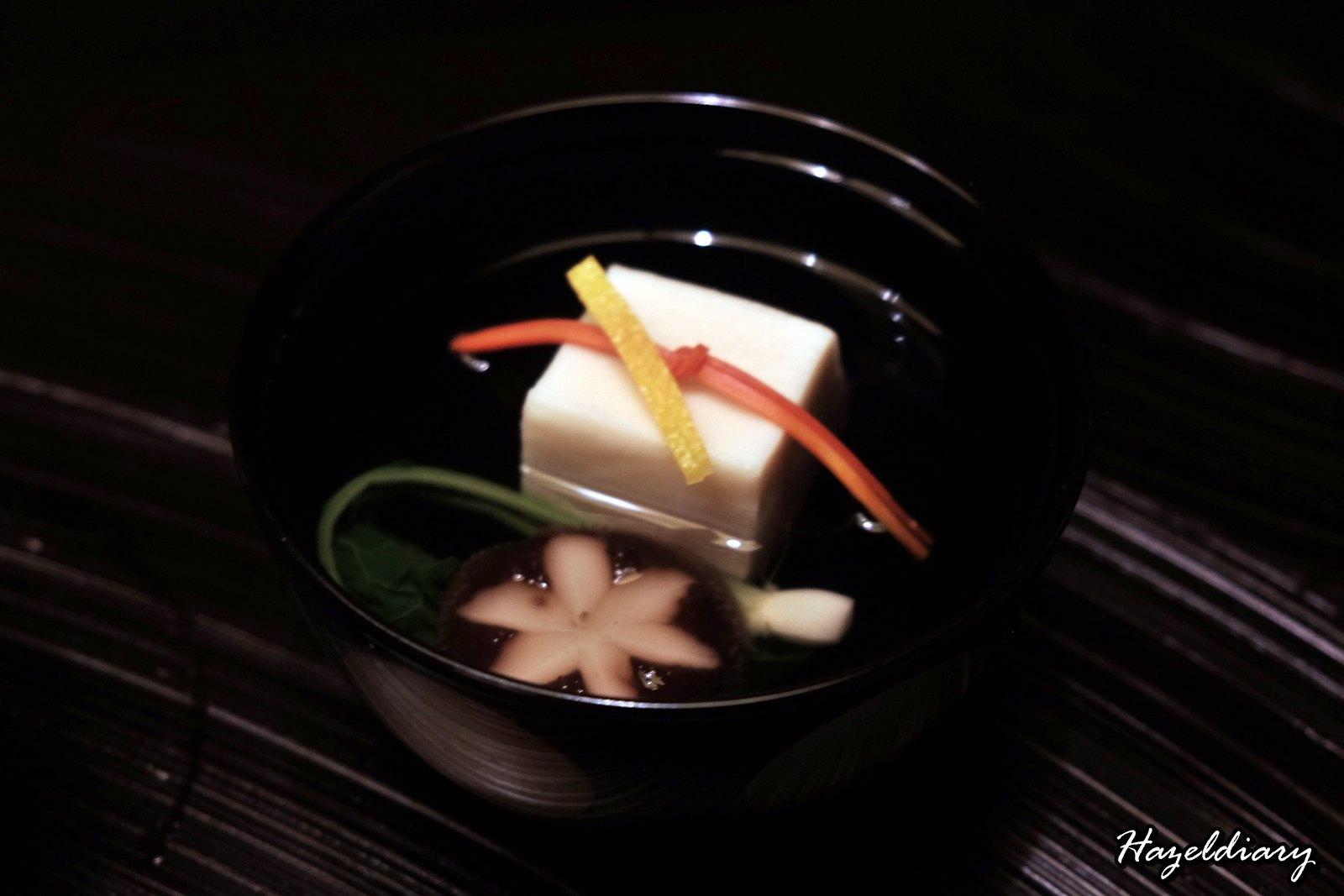 kaiseki soujuan keio plaza hotel tokyo-soup