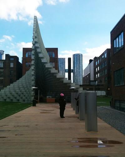Approaching the Serpentine Pavilion #toronto #unzippedtoronto #serpentinepavilion2016 #bjarkeingels #latergram