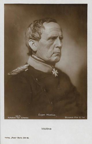 Eugen Moebius as Moltke in Bismarck-Film, part II