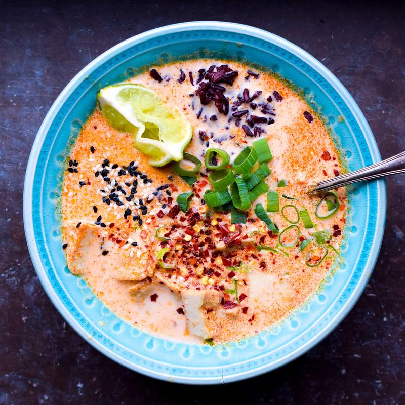 Tofu i röd curry