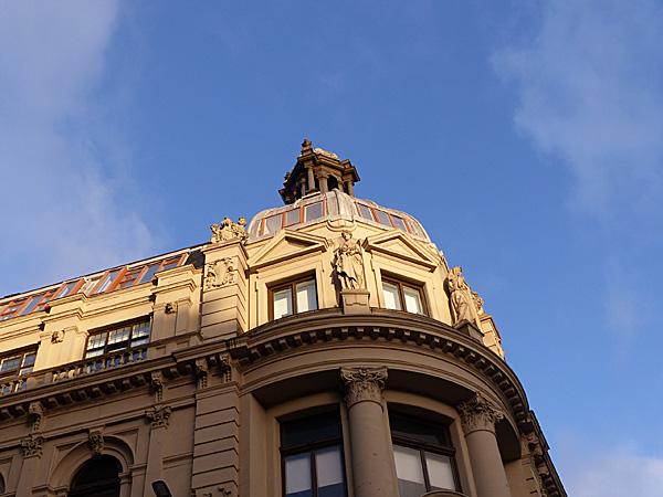 ciel bleu à Glasgow