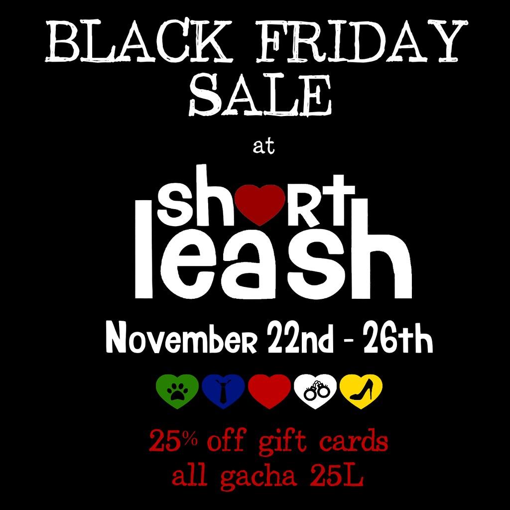 Black Friday Sale @ Short Leash Mainstore! - TeleportHub.com Live!