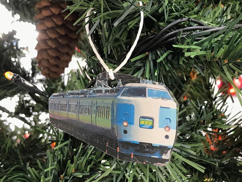 上諏訪駅のクリスマスツリー
