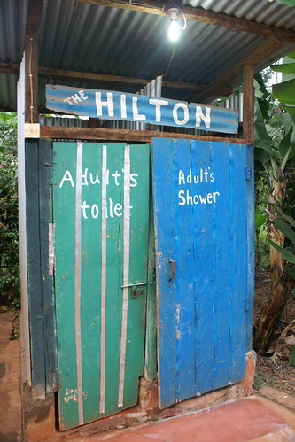 "Volunteer ""toilet"" and ""shower"" at the orphanage in Kenya (2012). Catherine Cottam: #VolunteerAbroadBecause It Will Shape You"
