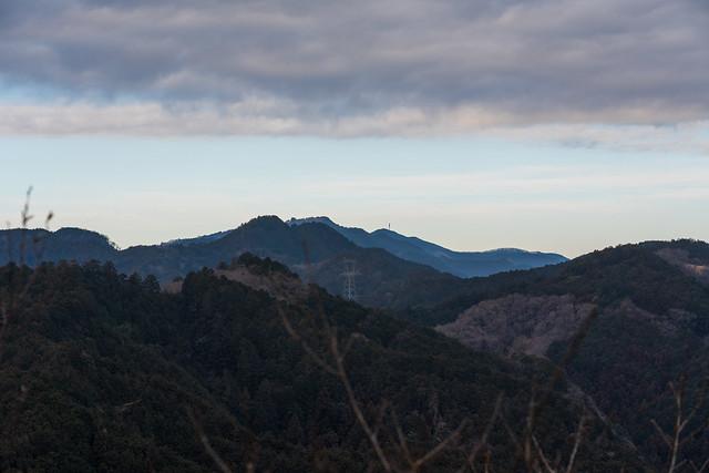 これから歩く稜線@スカリ山