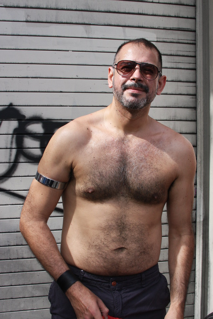 HELLA HOT & HAIRY MANLY MASCULINE DADDY ! FOLSOM STREET FAIR 2018 ! ( safe photo )
