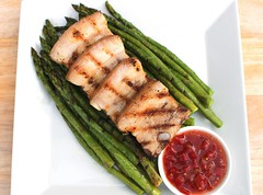 Grilled Pork Belly & Green Asparagus