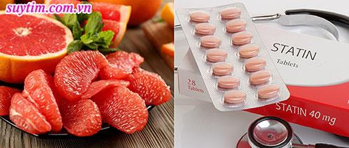 Nên ăn bưởi cách xa thời điểm dùng thuốc statin để hạn chế độc tính của thuốc