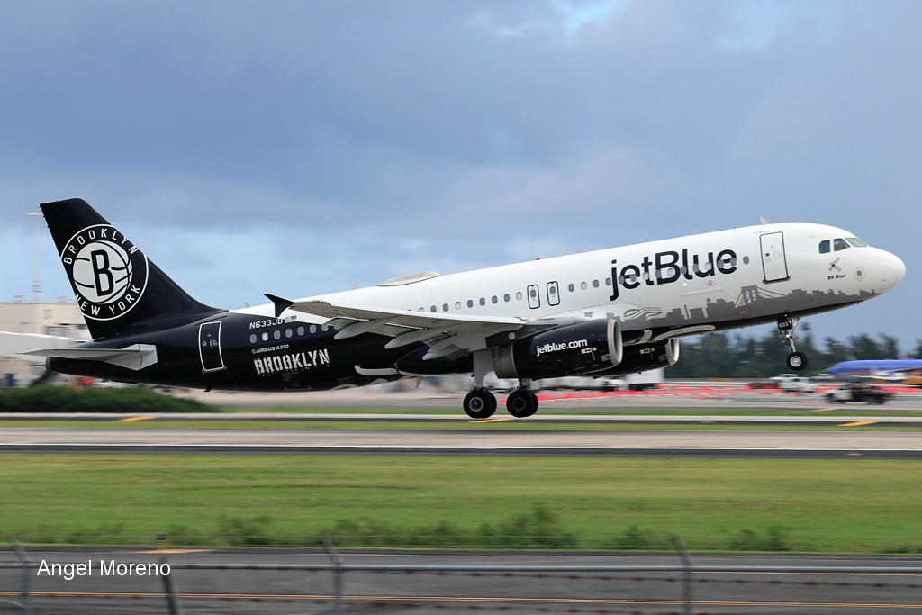 jetBlue / Airbus A320-232 / N633JB departure from TJSJ via runway 10.