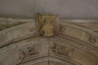 angel above the south doorway