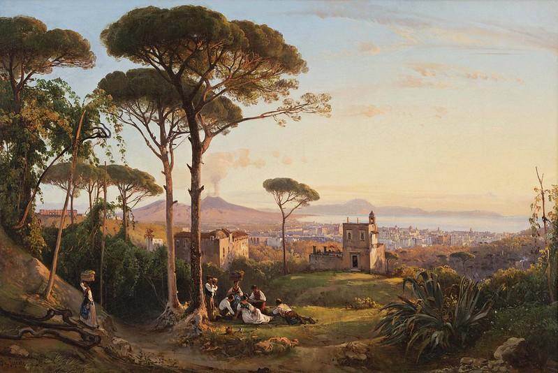 Giacinto Gigante - Napoli vista dalla Conocchia (1844)