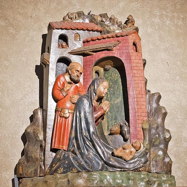 Baldino da Surso, Nativity, (1473), San Michele, Pavia (Italy)