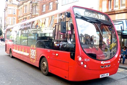 SM65 LMF 'Carousel Buses' No. 404 'X80 Regatta'. Wright Streetlte D/F on Dennis Basford's railsroadsrunways.blogspot.co.uk'