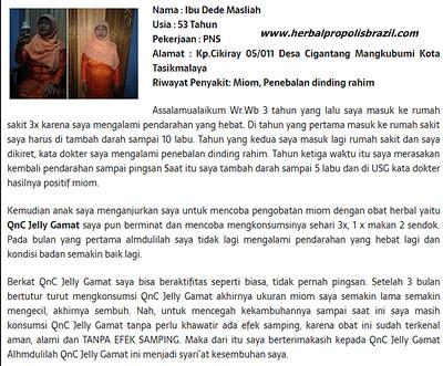Testimoni QnC Jelly Gamat Sembuhkan Penyakit Miom