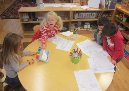 fine fine motor work - coloring with tiny tipped pens and mazes
