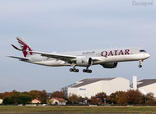F-WZNM Airbus A350 Qatar