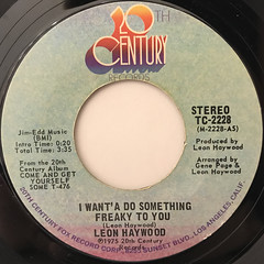 LEON HAYWOOD:I WANT'A DO SOMETHING FREAKY TO YOU(LABEL SIDE-A)
