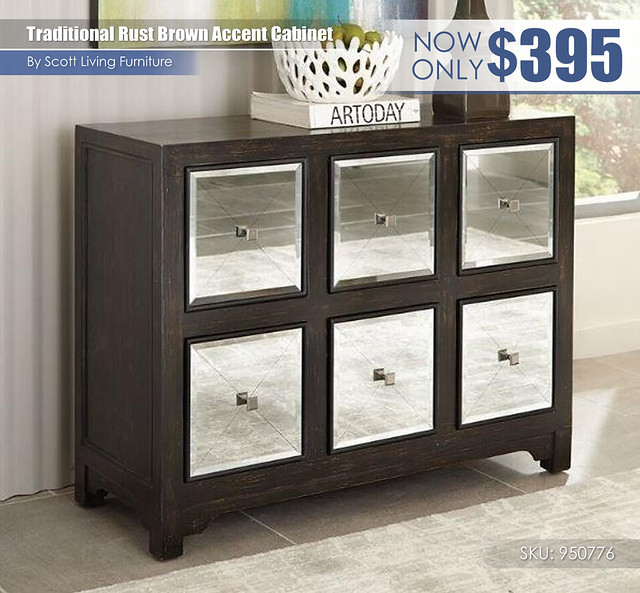 Traditonal Rustic Brown Accent Cabinet_Scott Living_950776