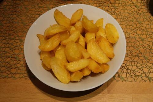 Frittierte Kartoffelecken