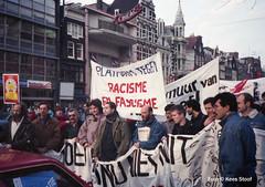 Antifascismedemonstratie Amsterdam 1990
