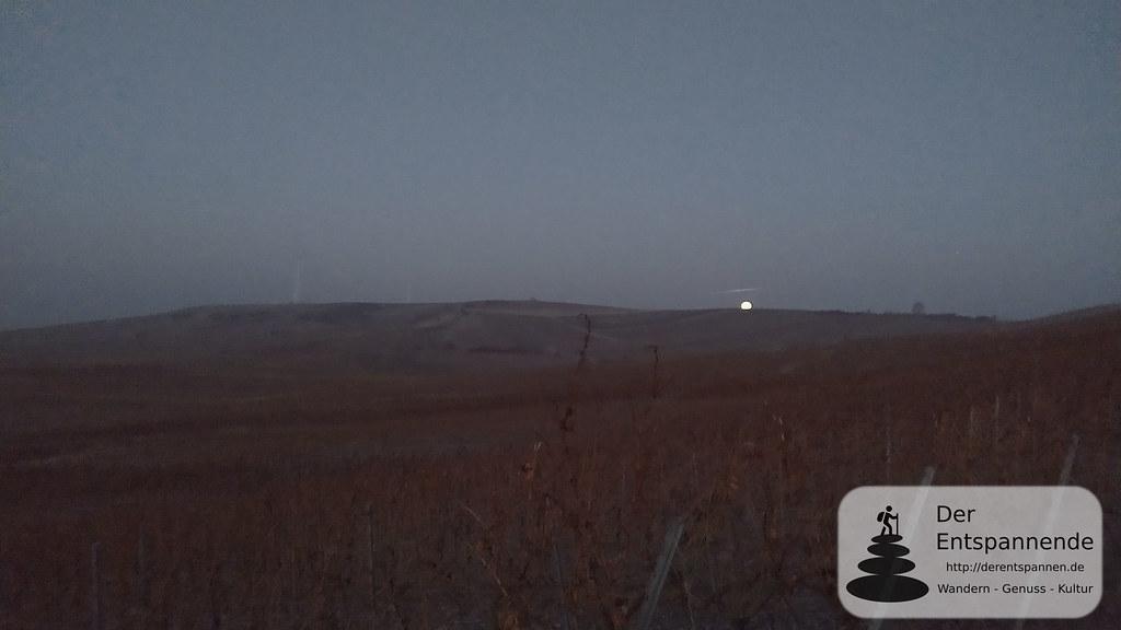 Monduntergang über dem Selzer Berg